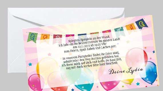 Einladungskarte Zum Kindergeburtstag Boallons